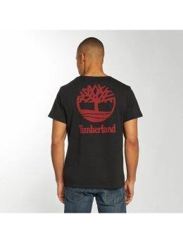 Timberland t-shirt Stacked Logo zwart