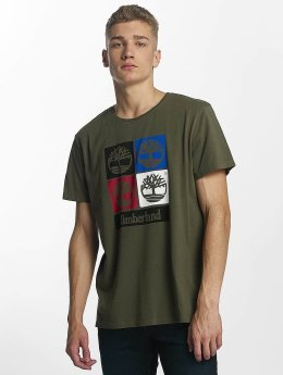 Timberland T-shirts 90'S Logo oliven