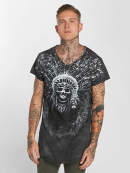 trueprodigy T-Shirt Skull Indian gris