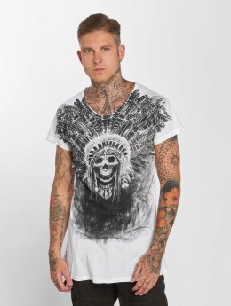 trueprodigy T-Shirt Skull Indian weiß