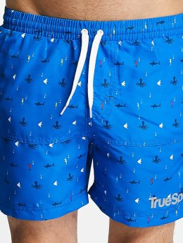 TrueSpin Badeshorts Underwater Print  blau