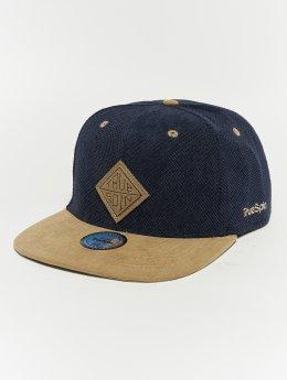 TrueSpin Snapback Caps Melange Taper blå