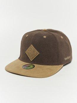 TrueSpin Snapback Caps Melange Taper brun