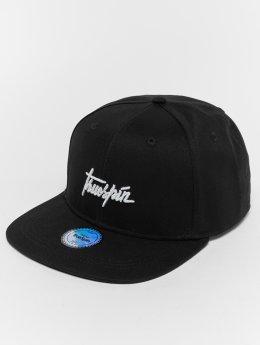 TrueSpin Snapback Caps Script musta