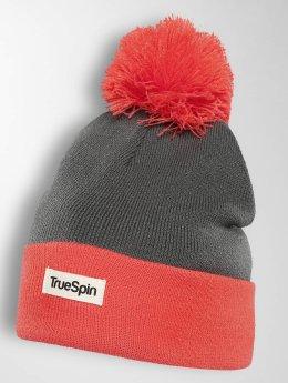 TrueSpin Wintermütze 2 Tone Flakes rot