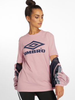 Umbro Camiseta Boyfriend Fit Logo rosa