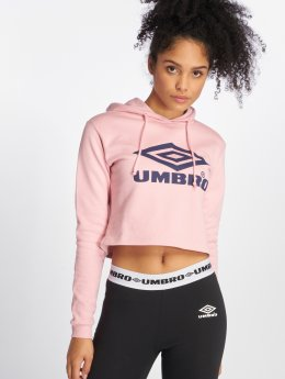 Umbro Sweat capuche Cropped OH rose