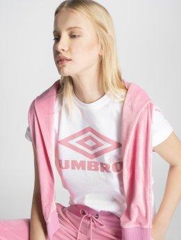 Umbro T-paidat Boyfriend Fit Logo valkoinen