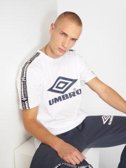 Umbro T-Shirt Taped Crew blanc