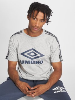 Umbro t-shirt Taped Crew grijs