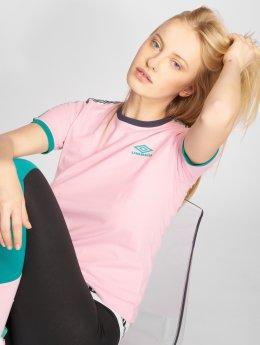Umbro T-Shirt Contrast Rib rosa