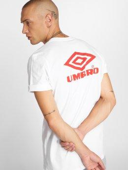Umbro Männer T-Shirt Classico Crew Logo in weiß