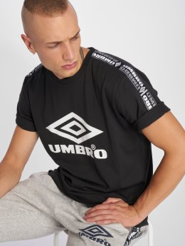 Umbro t-shirt Taped zwart