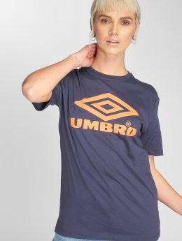 Umbro T-shirts Boyfriend Fit Logo blå