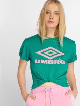 Umbro T-shirts Boyfriend Fit Logo grøn