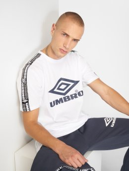 Umbro T-Shirty Taped Crew bialy