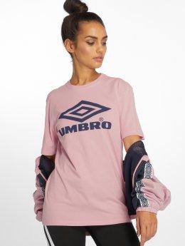 Umbro T-skjorter Boyfriend Fit Logo rosa