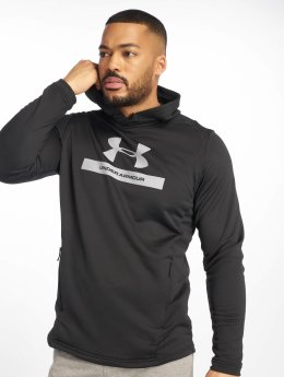 Under Armour Bluzy z kapturem Mk1 Terry Graphic czarny