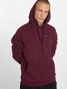 Under Armour Bluzy z kapturem Rival Fleece Hoodie czerwony