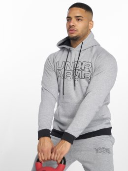 Under Armour Bluzy z kapturem Baseline Fleece szary