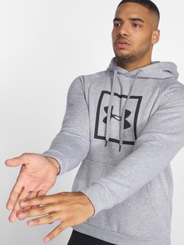 Under Armour Bluzy z kapturem Rival Fleece Logo szary