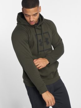 Under Armour Bluzy z kapturem Rival Fleece Logo zielony