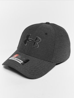 Under Armour Men's Heathered Blitzing 30 Flexfitted Cap Black Graphite Black