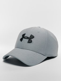 Under Armour Men's Heathered Blitzing 30 Flexfitted Cap Steel Steel Black