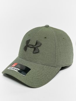 Under Armour Men's Heathered Blitzing 30 Flexfitted Cap Downtown Green White Downtown Green