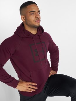 Under Armour Hoodie Rival Fleece Logo röd