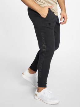 Under Armour Pantalone ginnico Rival Fleece Script nero