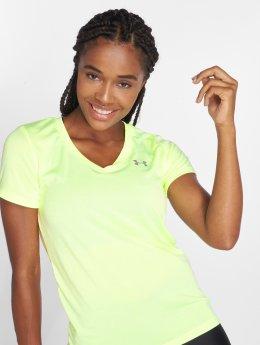 Under Armour   Women's Ua Tech jaune Femme Shirts de Sport