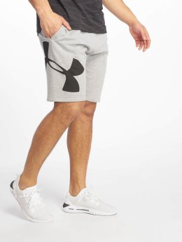 Under Armour Short Rival Fleece Logo Sweatshort gris