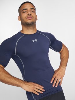 Under Armour T-Shirt Men's Ua Heatgear Armour Short Sleeve Compression blue