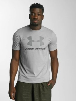 Under Armour t-shirt Charged Cotton Sportstyle Logo grijs