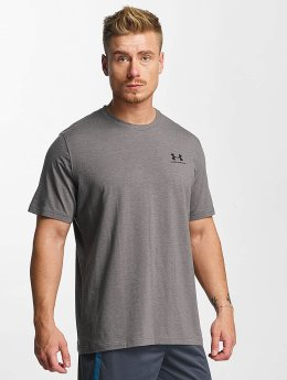 Under Armour t-shirt Charged Cotton Left Chest Lockup grijs