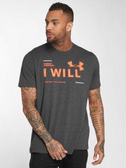Under Armour t-shirt I Will grijs