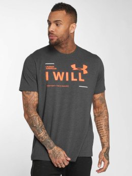Under Armour T-Shirty I Will szary