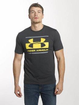Under Armour T-skjorter Blocked Sportstyle grå