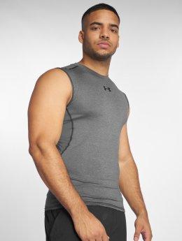 Under Armour Tank Tops Men's Ua Heatgear Armour Sleeveless Compression Shirt šedá