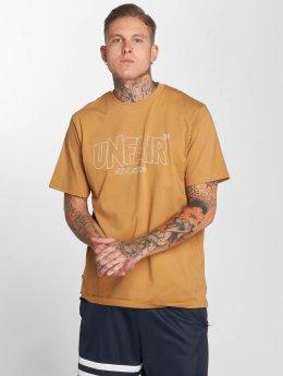 UNFAIR ATHLETICS T-Shirt Classic Label Outlines brown