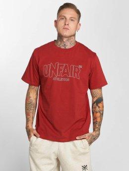 UNFAIR ATHLETICS T-Shirt Label Outlines rouge