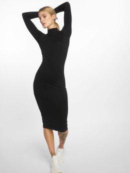 Urban Classics Šaty Ladies Turtleneck čern