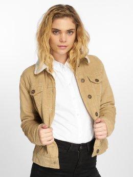 Urban Classics Демисезонная куртка Sherpa Cordury бежевый