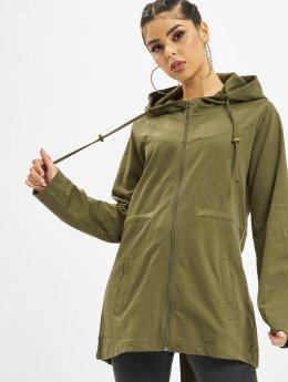 Urban Classics Демисезонная куртка Terry  оливковый