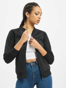 Urban Classics Демисезонная куртка Scuba Mesh Raglan черный