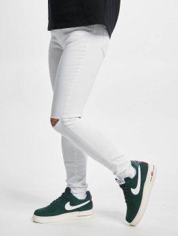Urban Classics Джинсы прямого покроя Ladies Cut Knee белый