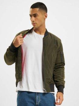 Urban Classics Куртка-бомбардир 2-Tone оливковый