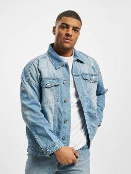 Urban Classics джинсовая куртка Ripped Denim синий
