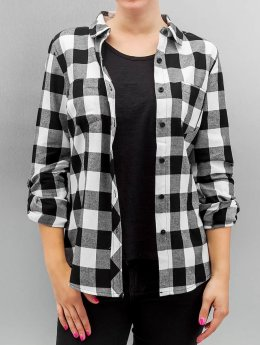 Urban Classics Blouse & Chemise Ladies Turnup Checked Flanell noir